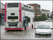 Flooding in east Belfast