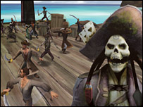 screenshot of Pirates of the Caribbean computer game