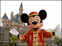 Mickey Mouse actor in Hong Kong