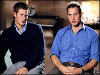 Prince Harry and Prince William, picture from Clarence House