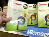 Windows Vista on shop shelf, PA