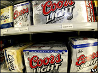 Multiple packs of beer on sale in the US