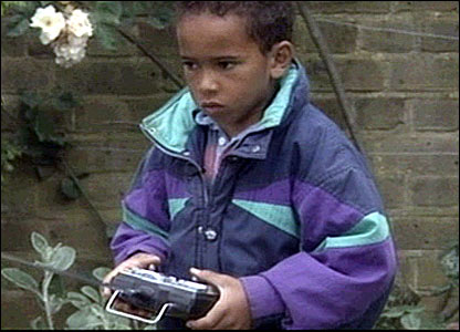 Lewis Hamilton in 1992 on Blue Peter