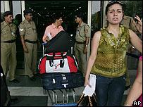 Stranded passenger in Delhi
