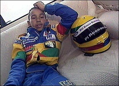 Lewis Hamilton in 1997