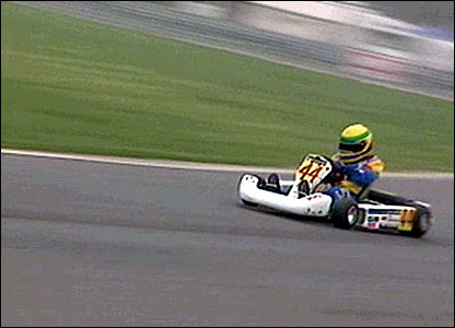Lewis Hamilton in his kart