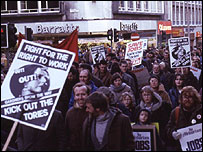Protest in Liverpool, 1980