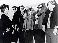 David Hatch (second right) shown with (l-r) John Cleese, Graeme Garden, Bill Oddie and Tim Brooke-Taylor