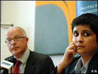 Public Interest lawyer Phil Shiner and Liberty director Shami Chakrabarti