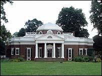 Thomas Jefferson's home in Monticello, Charlottesville, Virginia