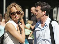 Kristin Scott Thomas with Francois Cluzet in Tell No One