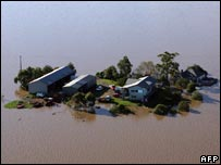 Flooded farm in Maitland, north of Sydney