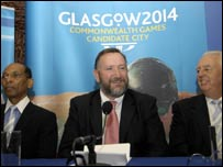 Dr Larry Davis, Mike Hooper and John Tierney of the Commonwealth Games Federation Evaluation Committee
