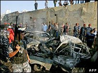Lebanese troops secure blast site