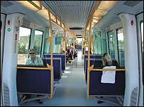 Metro train in Copenhagen, Denmark