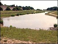The lake at Camp Hill, Nuneaton