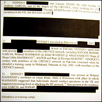 Redacted text from the Zeeshan Siddique file