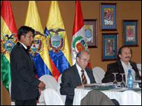 Reuniones preliminares de la cumbre (Foto: cortesía http://www.comunidadandina.org/)