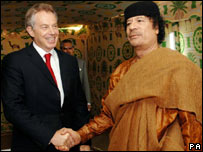 Tony Blair with Colonel Gaddafi 