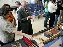 Muestra de artefactos precolombinos
