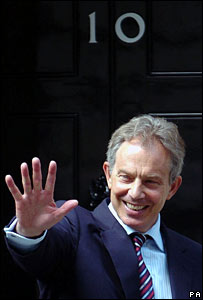 Tony Blair outside 10 Downing Street