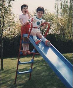 Kathy Turner and sister, 1987