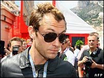 Jude Law with a receding hairline
