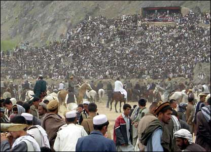 The traditional Afghan sport of buzkashi