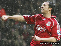 Robbie Fowler celebrates one of his many Liverpool goals