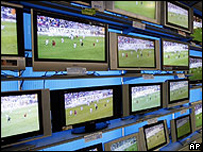 TVs on display