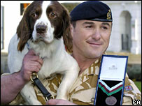 British Army dog Buster with his handler Sgt Danny Morgan