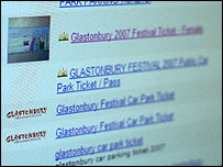 Glastonbury tickets on eBay
