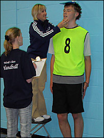 Handball hopefuls get measured