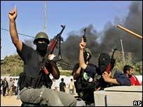Hamas militants in Rafah