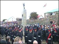 Falklands memorial service