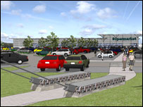 An artist's impression of the new supermarket (picture: J Ross Developments)