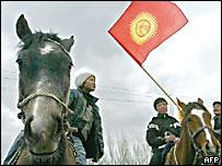 Сторонники киргизской оппозиции