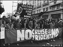 CND march in London, 1983