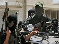 Hamas gunmen in Gaza (14 June 2007)