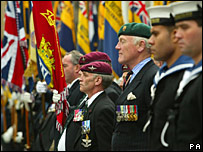 Veterans gather for the Falklands parade on the Royal Mile, Edinburgh