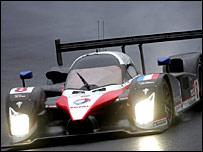 The Peugeot of Sebastien Bourdais, Pedro Lamy and Stephane Sarrazin