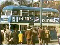 The last trolleybus journey in Bradford