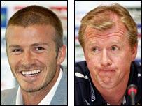 David Beckham and Steve McClaren