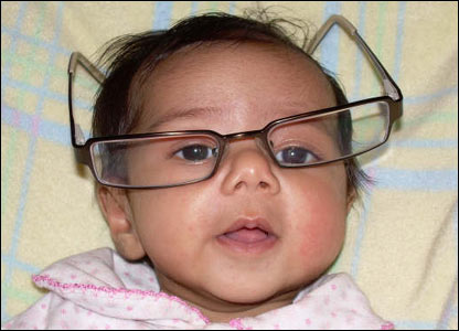 Baby Shreya Garg in glasses