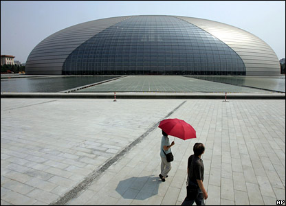 New Chinese theatre in Beijing, nicknamed the Egg