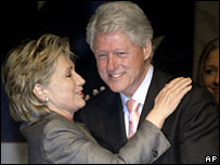 Hillary and Bill Clinton at a fundraising campaign in April for her presidential bid