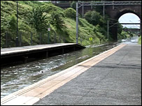 Flooding at Tame Bridge Parkway Station