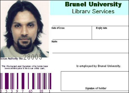 Dhiren Barot's take library ID card