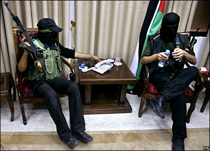 Hamas militants storm the office of Palestinian President Mahmoud Abbas