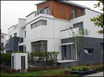 Modern eco-housing on Chongming - at a price